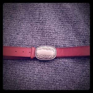 American Eagle leather belt with buckle